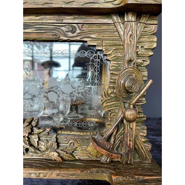 Black 19th Century Black Forest Tantalus Bar For Sale - Image 8 of 13