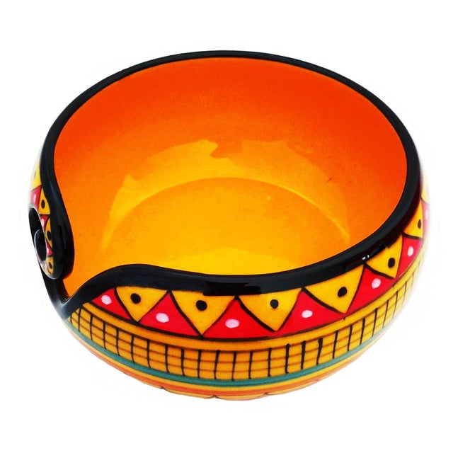 Make knitting adorable with this decorative beautiful Multi Layered African Yellow design Bowl remind us of the beauty of...