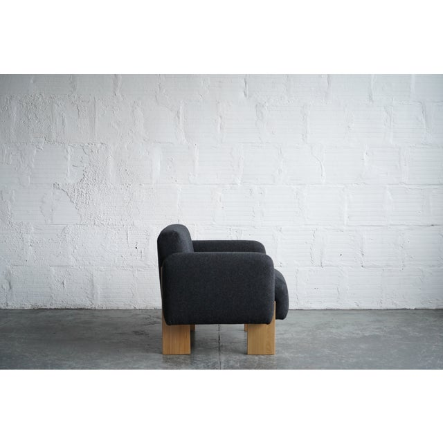 Contemporary Modern Billow Lounge Chair For Sale - Image 3 of 7