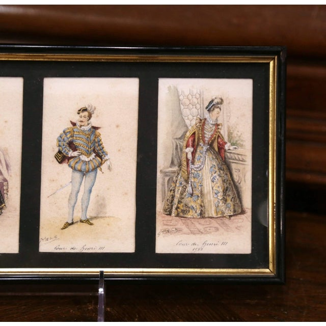 """19th Century French King of France Framed Color Prints """"Set of Three"""" For Sale - Image 10 of 12"""