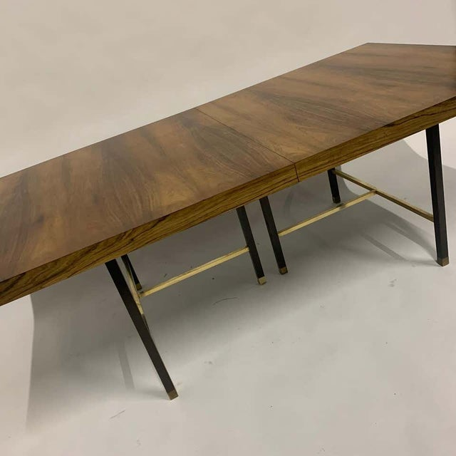 Brass Harvey Probber Sculptural Floating Dining Table in Rosewood, Brass and Mahogany For Sale - Image 8 of 13