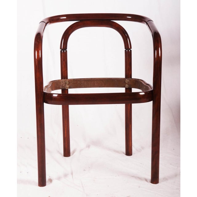 Brown Vintage beechwood chair by TON For Sale - Image 8 of 8