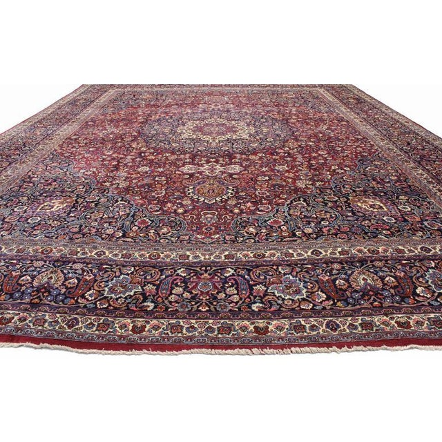 Antique Persian Mashad Rug with Art Nouveau Style For Sale - Image 4 of 9