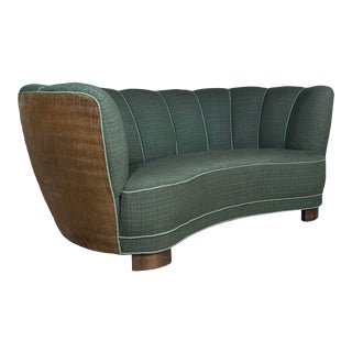 "Early 1940s Danish ""Banana"" Sofa For Sale"