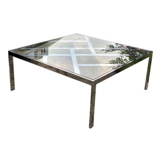 1970s Milo Baughman for Dia Chrome Coffee Table For Sale