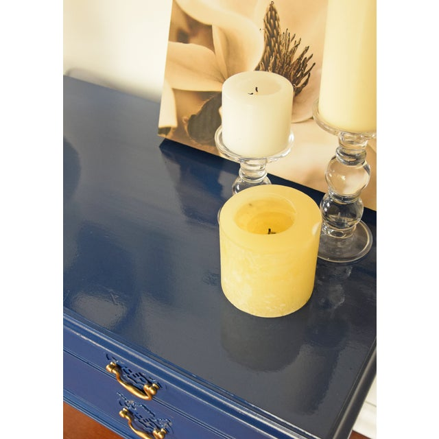 Blue Entryway Console Table For Sale - Image 5 of 9