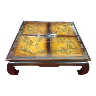 Vintage Asian Modern Bernhardt Large Coffee Table For Sale