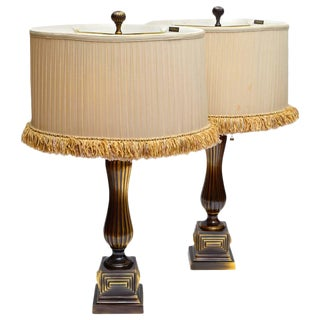 Frederick Cooper Vintage Bronze Table Lamps - a Pair For Sale