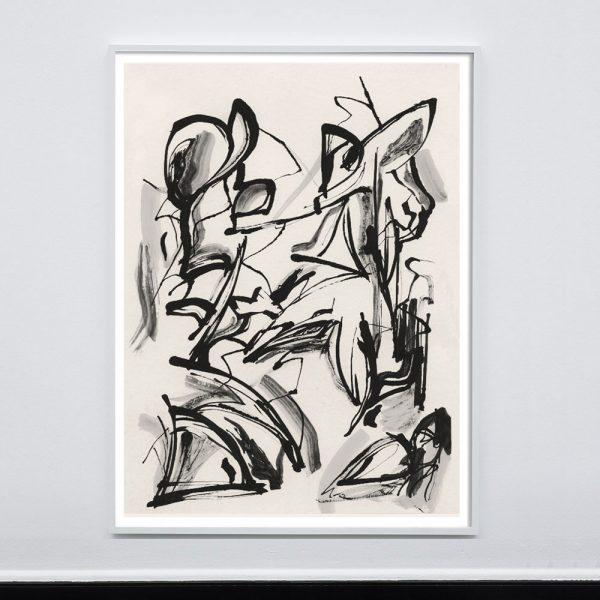 "Abstract Expressionism Phillip Kleeman ""Mingus (1961)"" Unframed Print For Sale - Image 3 of 3"