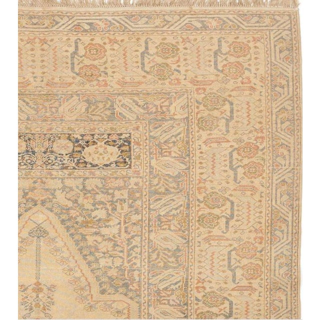 """Islamic Antique Turkish Kaisary Rug - 4'6"""" x 6' For Sale - Image 3 of 5"""