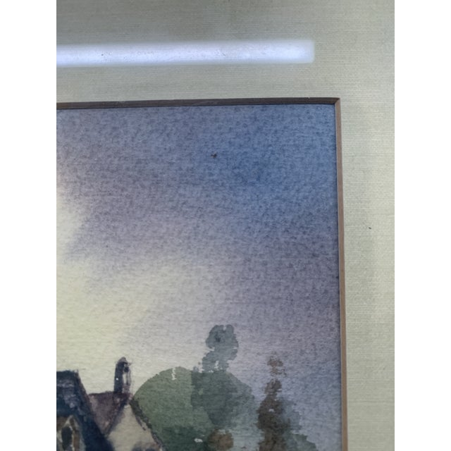 A. F. White Original English Cottage Watercolor Painting, Framed For Sale - Image 4 of 7