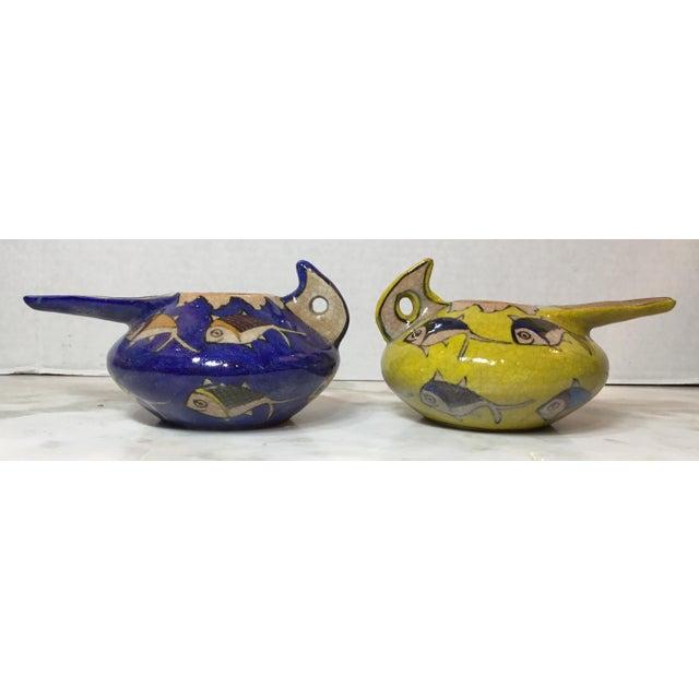 Folk Art Vintage Persian Ceramic Vessels - a Pair For Sale - Image 3 of 13