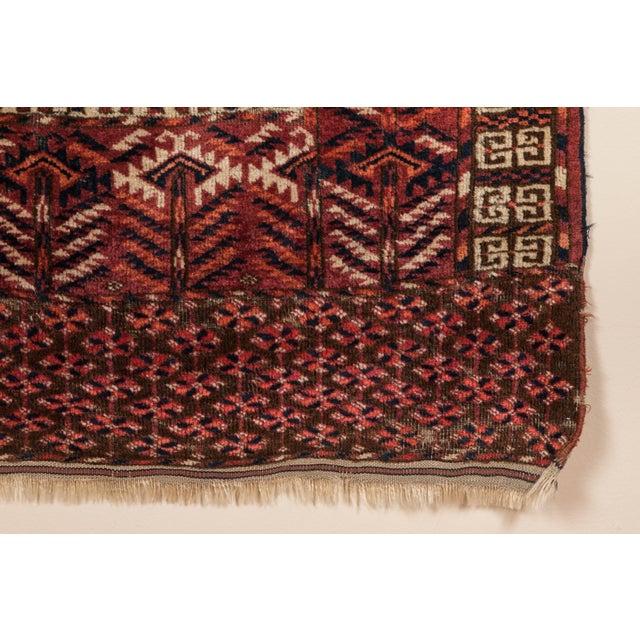 Asian Turkmen Ensi Antique Rug - 3′1″ × 4′10″ For Sale - Image 3 of 6