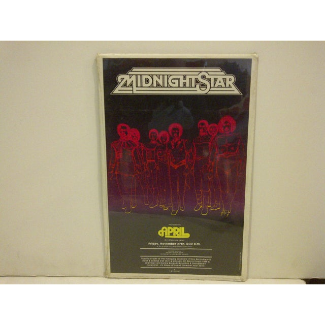 """This is a vintage concert poster: """"Midnight Star"""", November 27, 1981, Copyright 1981. Designology. The poster is shrink-..."""
