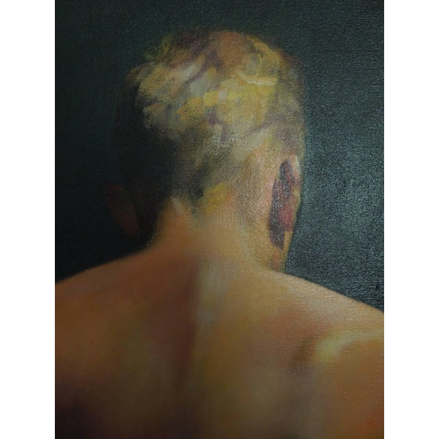 Important Mid-Century Original Painting of a Man by Hollywood Portrait Artist For Sale - Image 4 of 8