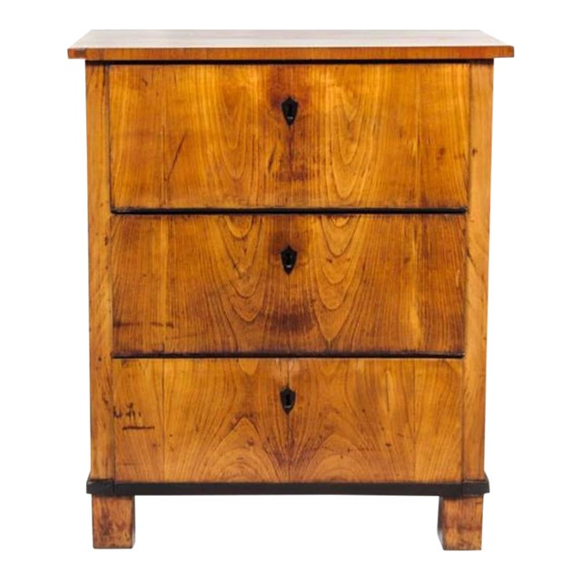 Italian Fruitwood Neoclassical Three-drawer Chest For Sale - Image 4 of 10