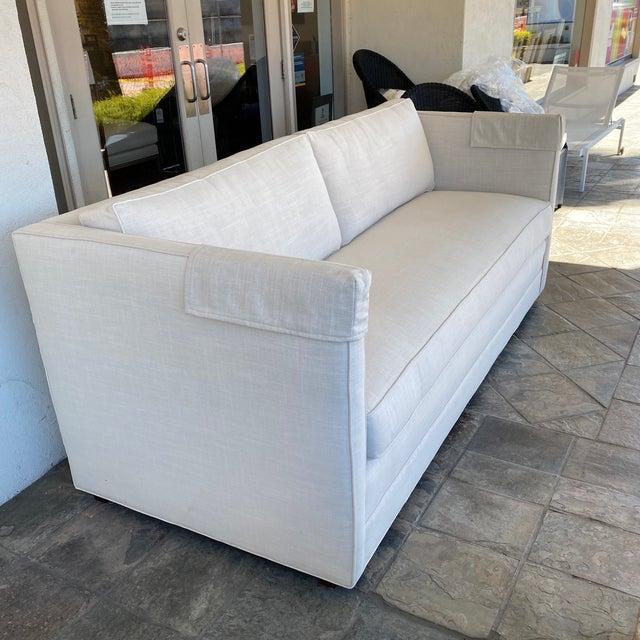2010s New Miles Talbott Custom Landry Sofa + White Crypton Upholstery For Sale - Image 5 of 9