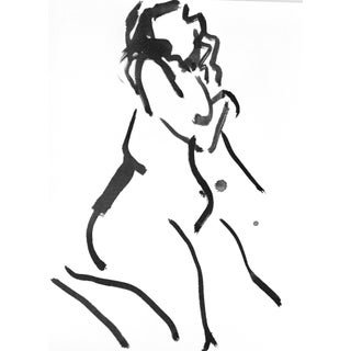 One Minute Pose Nude 133.5 Contemporary Painting by Gretchen Kelly For Sale
