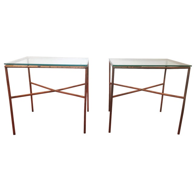 Vintage Copper Side Tables - A Pair - Image 1 of 6