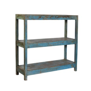 Vintage Turquoise Bookshelf For Sale