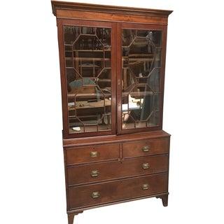 Mahogany Secretaire Bookcase For Sale