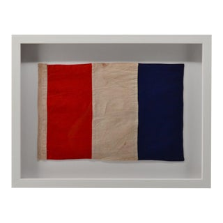 "Real Cotton Framed Signal Flag ""T"" For Sale"
