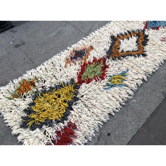 1970s Vintage Hand-Knotted Turkish Runner Rug - 2′9″ × 12′ For Sale - Image 9 of 11