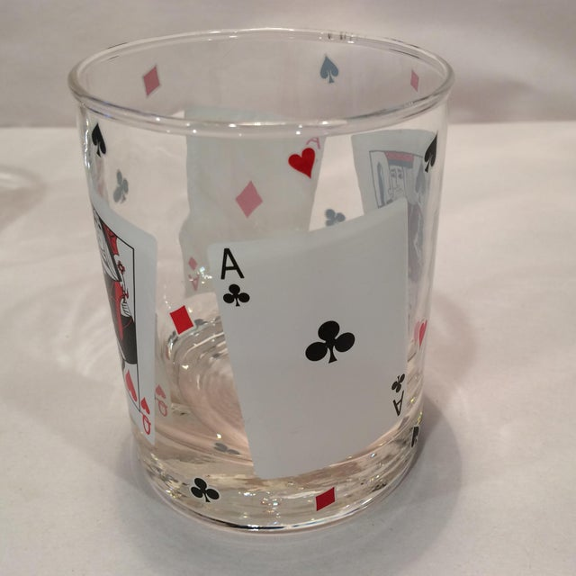 Poker Playing Card Lowball Glasses- Set of 4 - Image 4 of 11