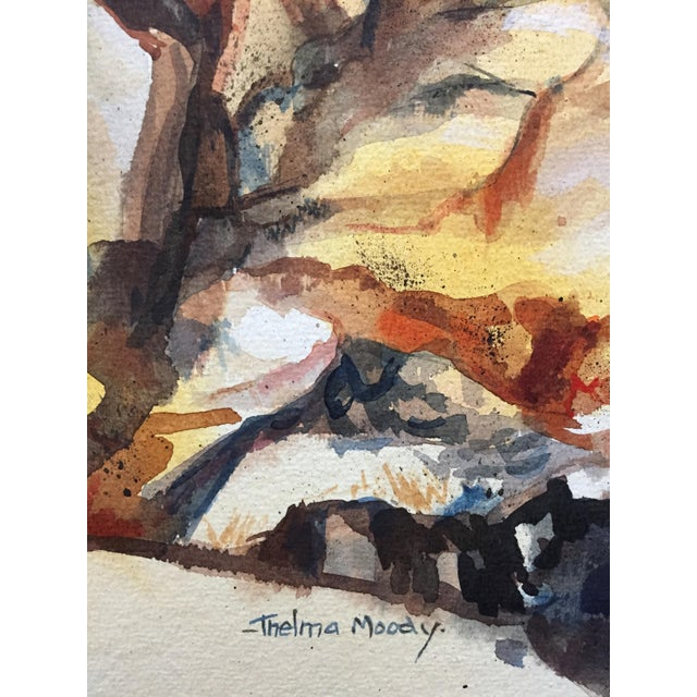Thelma Moody 1960's Double-Sided Gouache Landscape - Image 7 of 7