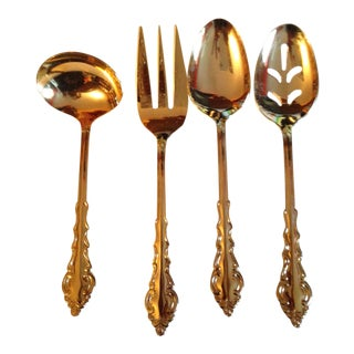 Rogers Gold Flatware Serving Set - Set of 4