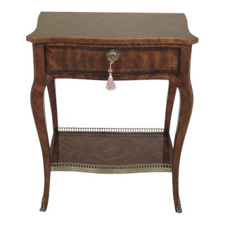Theodore Alexander French Louis XV Mahogany Nightstand For Sale