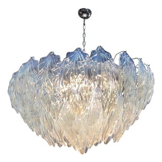Large Murano Glass Chandelier by Mazzega For Sale