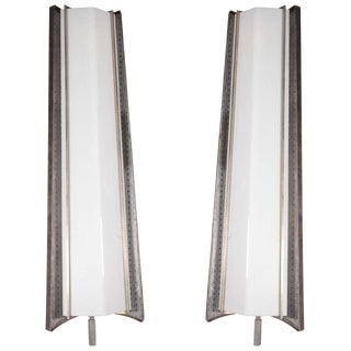 Large French Mid-Century Sconces, Mathieu Matégot - a Pair For Sale