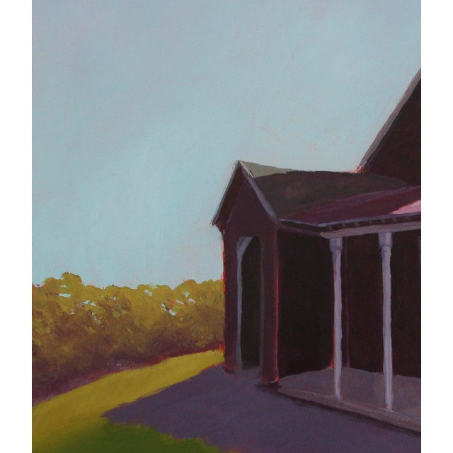 """Carol C. Young Carol C Young """"Ken's Barn"""" Painting, 2019 For Sale - Image 4 of 6"""