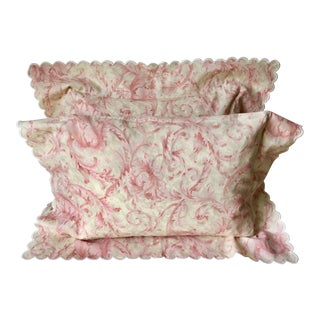 2 Italian Cotton Boudoir Pillows-Nancy Koltes For Sale