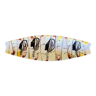 Marc Bellaire Hand Painted Tribal Dish For Sale