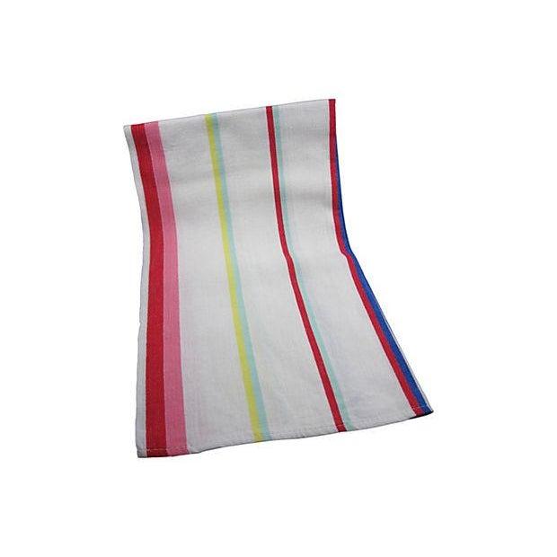 Vintage Awning Stripe Oversize Napkins - S/4 - Image 4 of 4