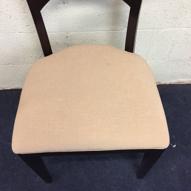 Beige & Espresso Side Chair - Image 7 of 8