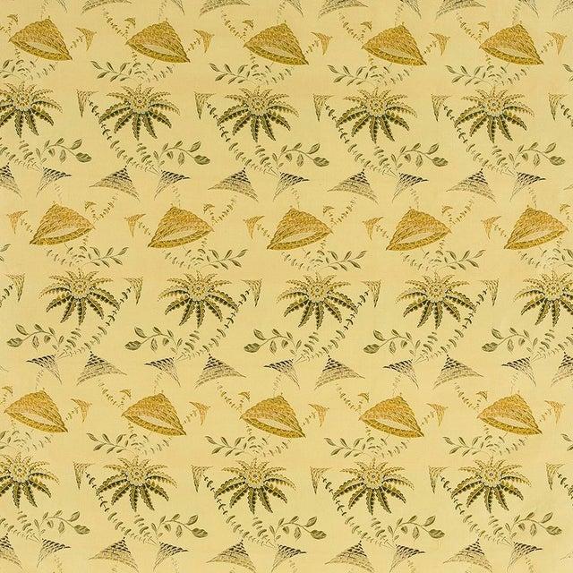 2010s Suzanne Tucker Home Brighton Bizarre Silk Satin Brocade in Fawn For Sale - Image 5 of 5
