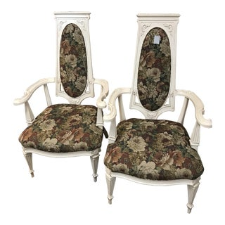 Antique Bergere Accent Chairs - a Pair