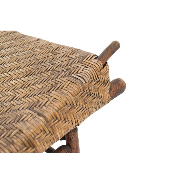 19th Century American Rustic Old Hickory Chaise For Sale - Image 5 of 7