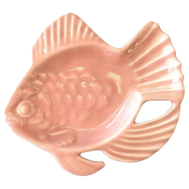 Rookwood Pink Pottery Aloha Fish Candy Dish For Sale