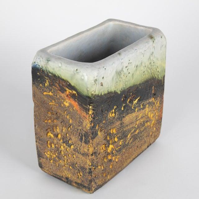 Ceramic 1960s Rectangular Vase by Marcello Fantoni For Sale - Image 7 of 13