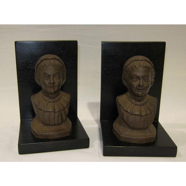 Vintage Sarreid LTD Cast Iron & Wood Bookends - A Pair - Image 3 of 6
