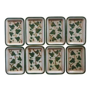 Vintage Grape Ivy/Gold Small Trays - Set of 8 For Sale