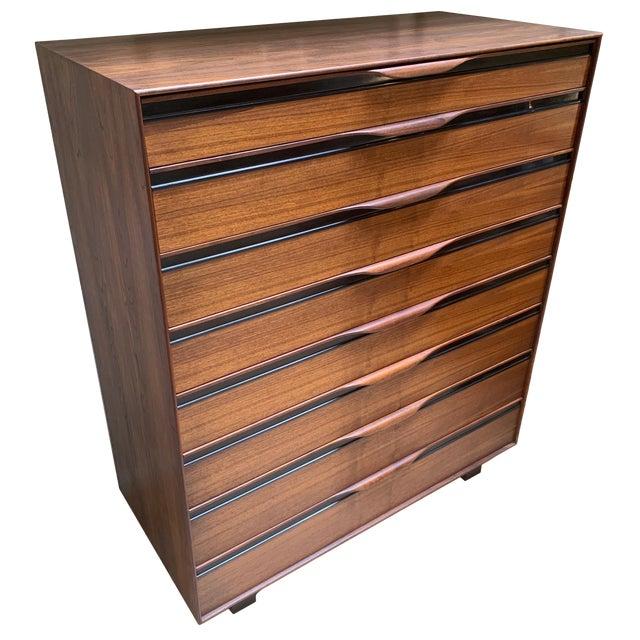 1950s John Kapel Walnut Tall Dresser for Glenn of California For Sale