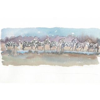 """Original Watercolour Painting """"Lots of Stripes"""" For Sale"""