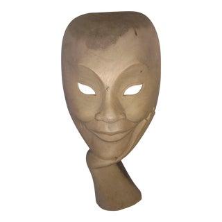 Vintage Indonesian Carved Sculpture Mask