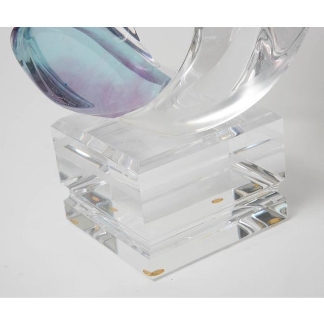 Lucite Michael Bene Multi-Colored Lucite Two Lovers Embracing Sculpture For Sale - Image 7 of 10