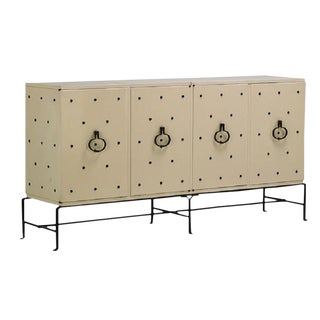 Tommi Parzinger Studded Cabinet For Sale
